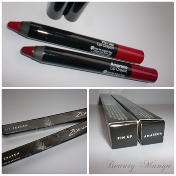 [Review] Zoeva Lip Crayon Pin Up & Amarena