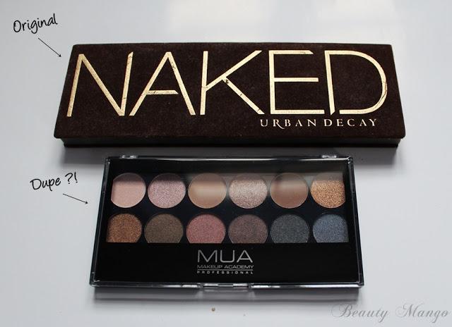 [Dupevergleich] Urban Decay Naked Palette 1 vs. MUA Undressed