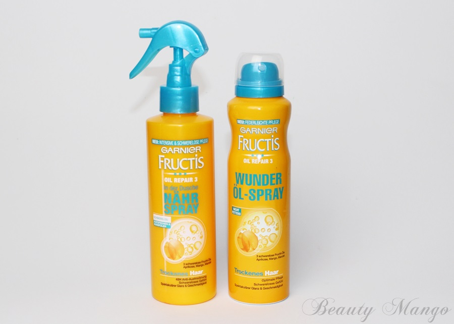 [Review] Garnier Fructis Oil Repair 3 In der Dusche Nährspray & Wunder Öl-Spray