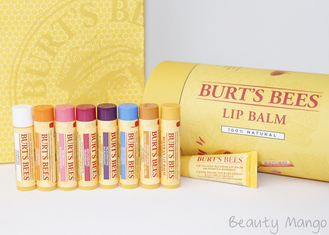 [Review] Burt's Bees Lip Balms + Giveaway