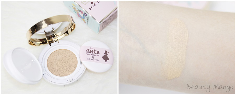 Beyond Alice in Blooming Snow Cushion 02 Natural Beige Swatch