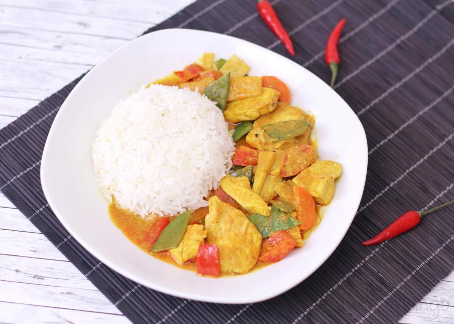 Rezept Yellow Thai Curry Beauty Mango