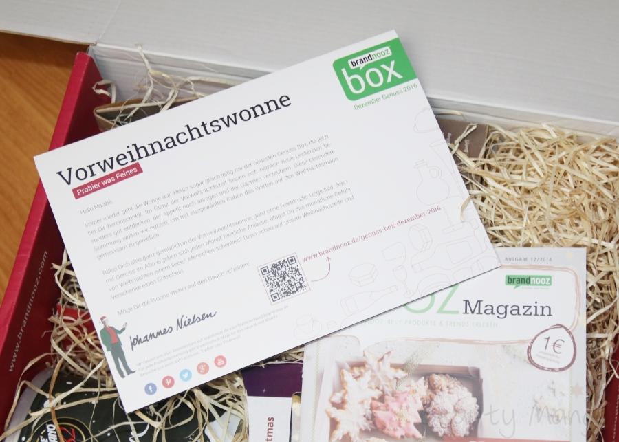 Brandnooz Genuss Box Dezember 2016