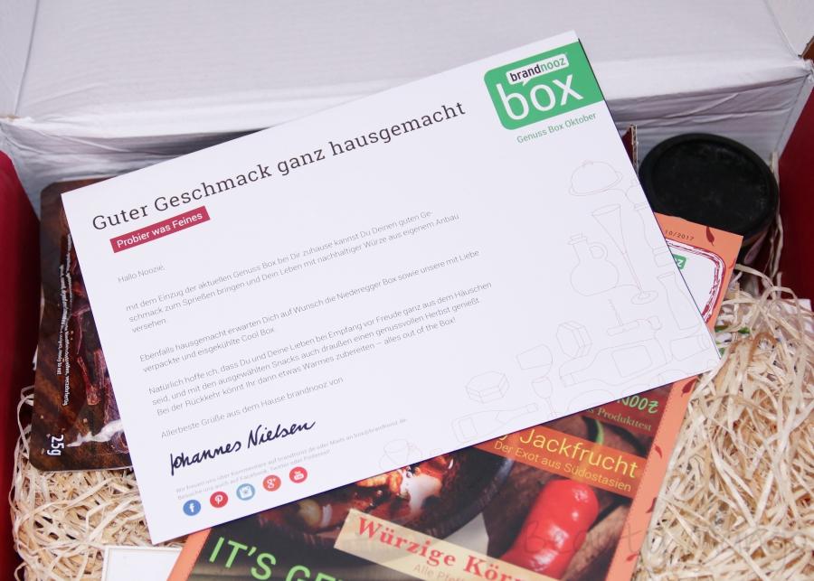 brandnooz Genuss Box Oktober 2017