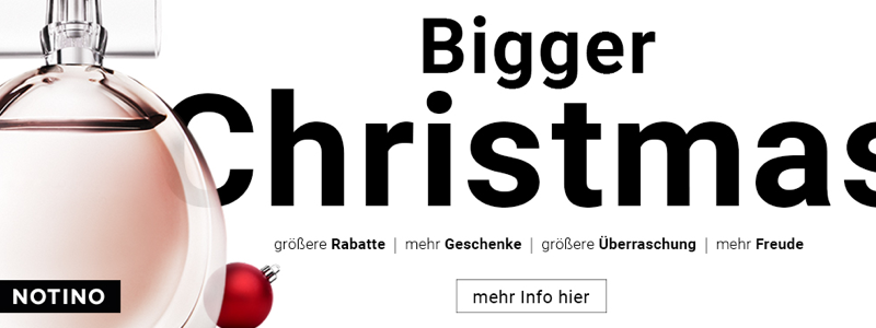 Bigger Christmas mit Notino