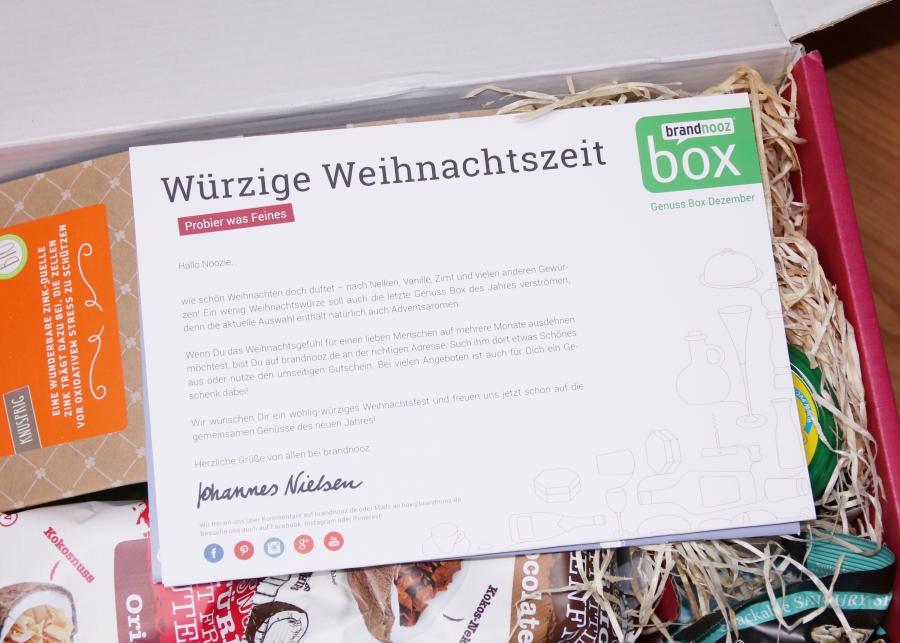 brandnooz Genuss Box Dezember 2017
