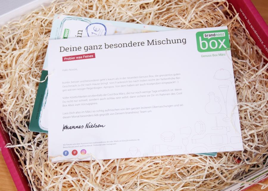 brandnooz Genuss Box März 2018