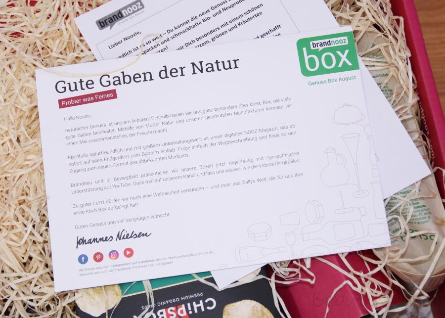 brandnooz Genuss Box August 2018