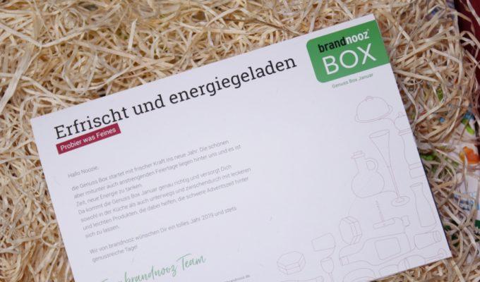 brandnooz Genuss Box Januar 2019